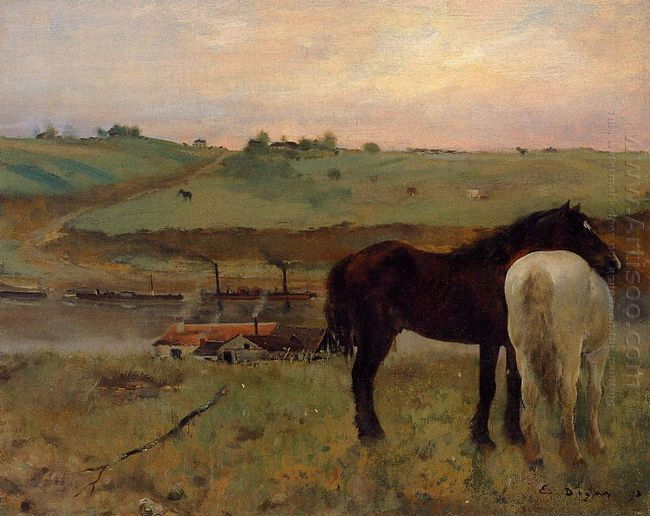 horses in a meadow 1871
