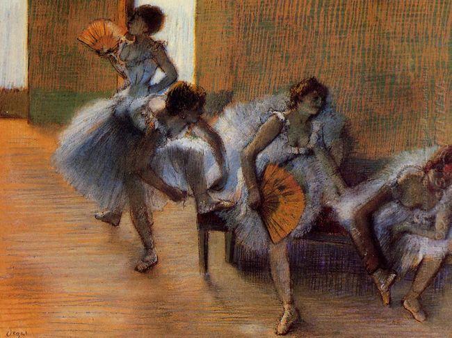 in the dance studio