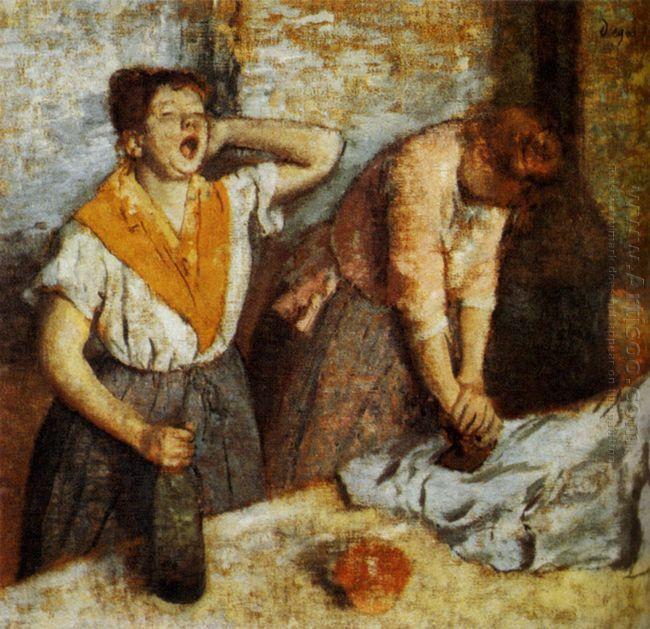 laundry girls ironing 1884