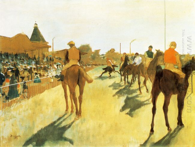 racehorses before the stands 1872