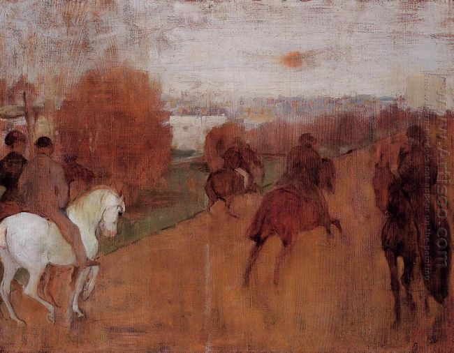 riders on a road 1868