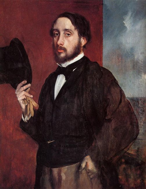 self portrait saluting 1866
