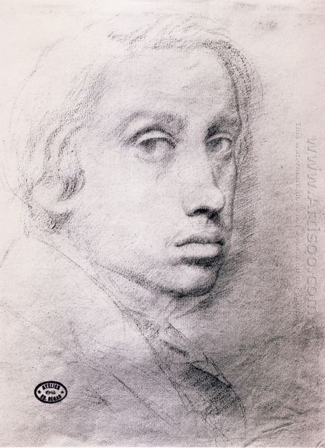 study for the self portrait 1855