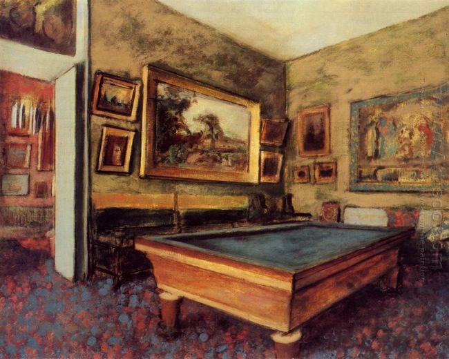 the billiard room at menil hubert 1892