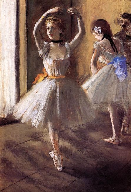 two dancers in the studio dance school