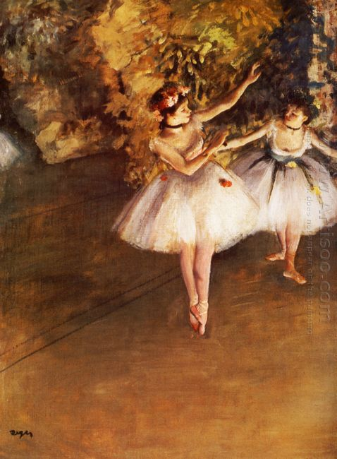 two dancers on stage 1877