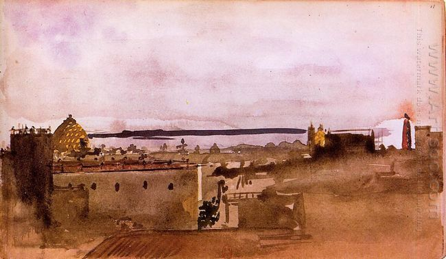 view of naples 1860