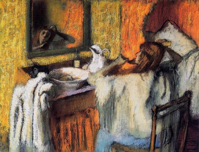 woman at her toilette 1