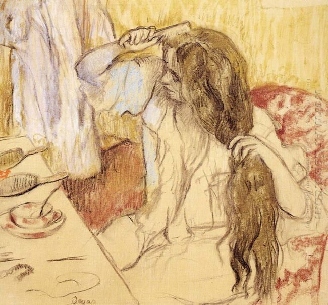 woman brushing her hair 1