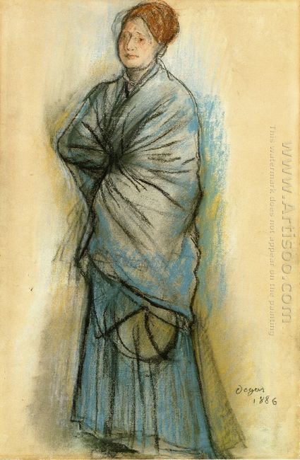 woman in blue portrait of mlle helene rouart 1886