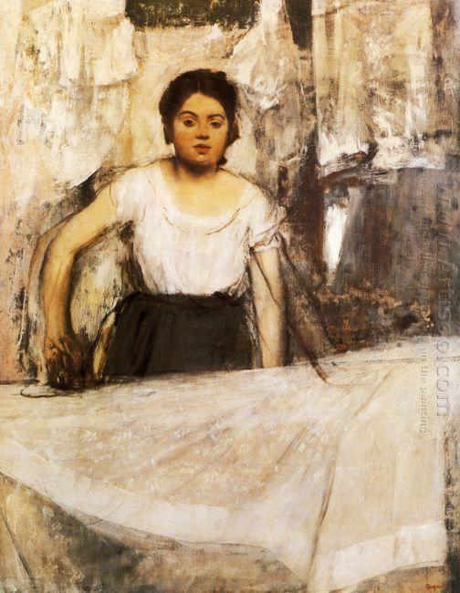 woman ironing 1869
