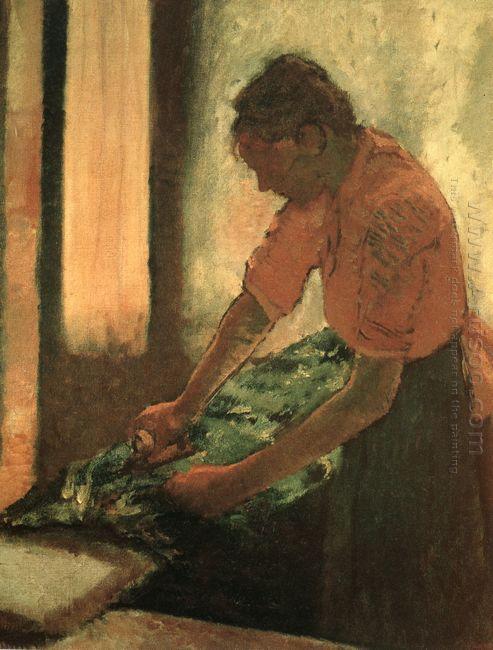 woman ironing 1886