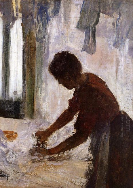 woman ironing silhouette 1873