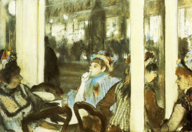 women on a cafe terrace 1877