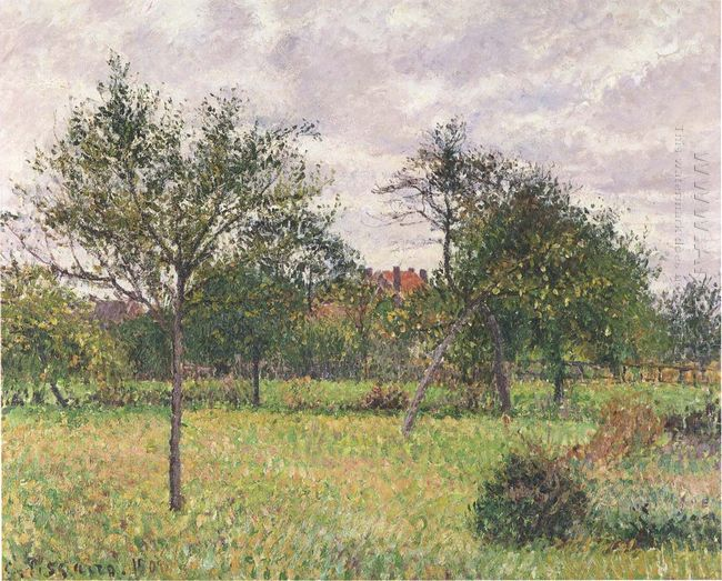 afternoon in eragny grey weather 1900