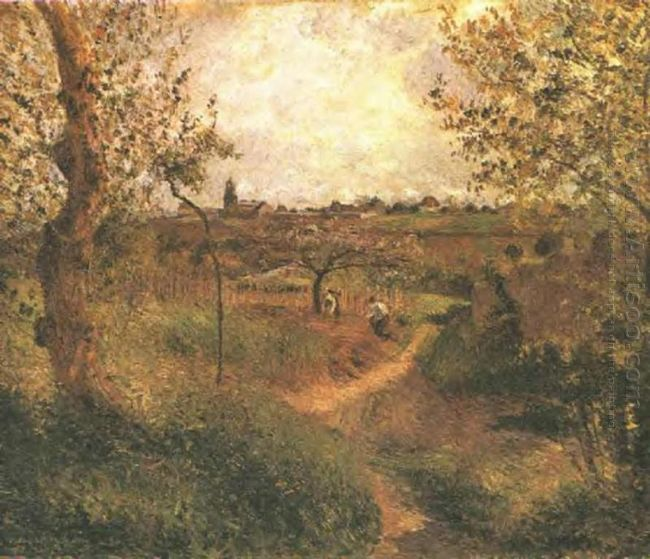 a path across the fields 1879