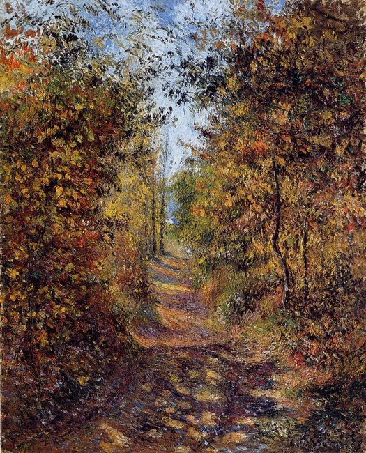 a path in the woods pontoise 1879