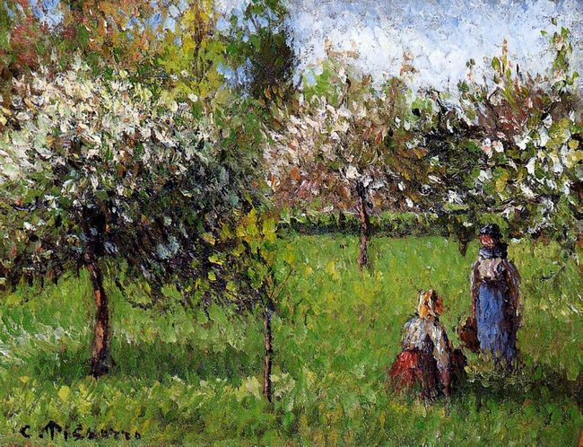 apple blossoms eragny