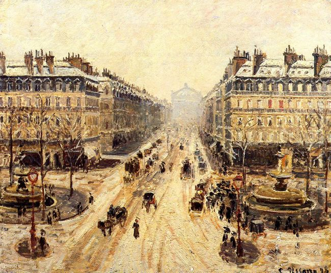 avenue de l opera effect of snow 1898
