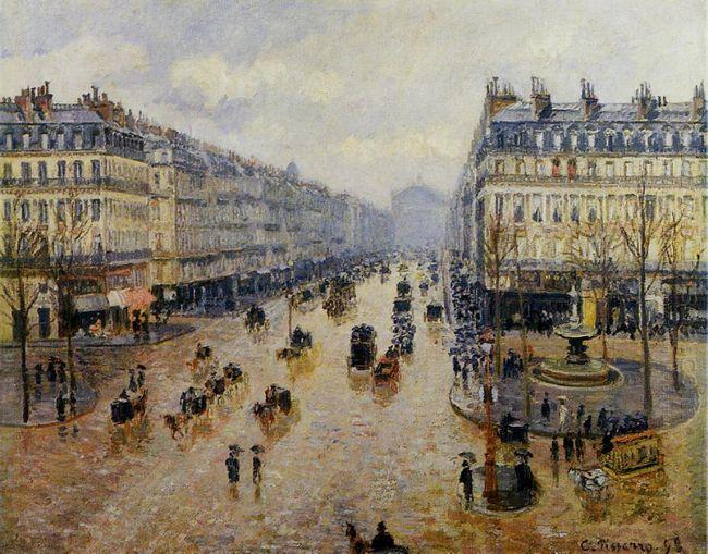 avenue de l opera rain effect 1898