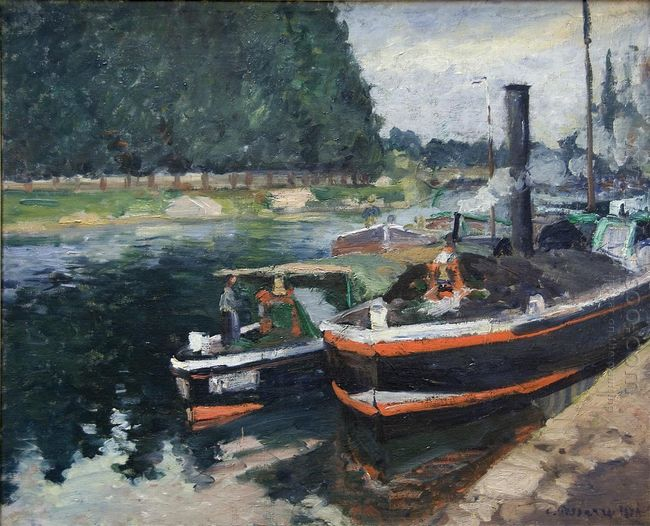 barges on pontoise 1872