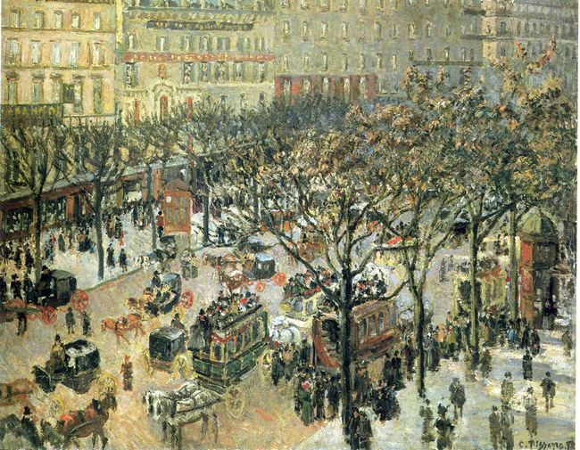 boulevard des italiens morning sunlight 1897