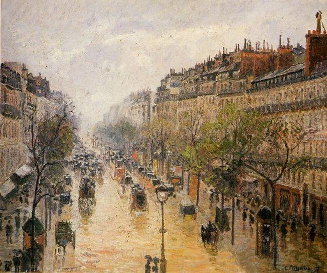 boulevard montmartre spring rain 1897