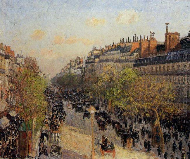 boulevard montmartre sunset 1897