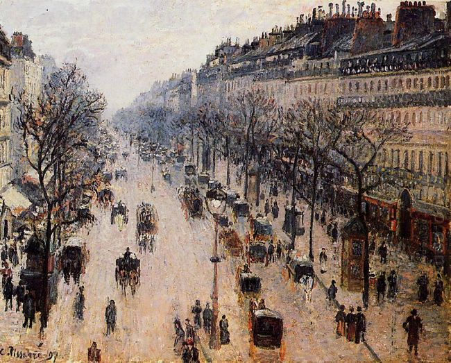 boulevard montmartre winter morning 1897