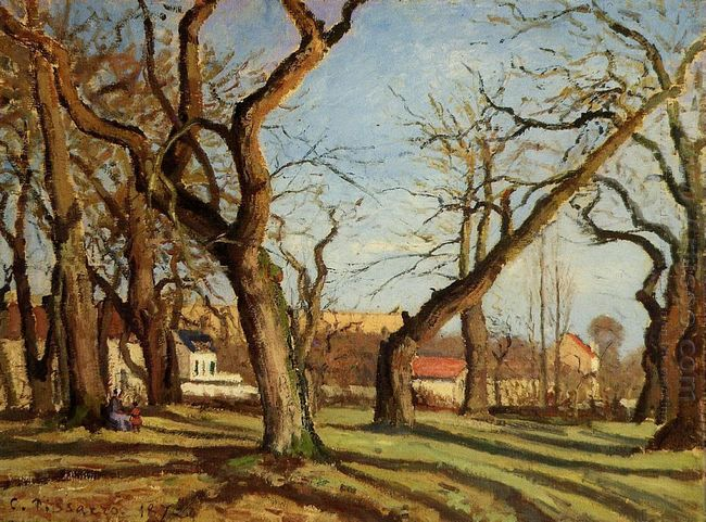 chestnut trees at louveciennes 1872