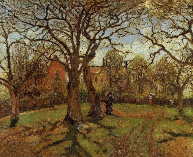 chestnut trees louveciennes spring 1870