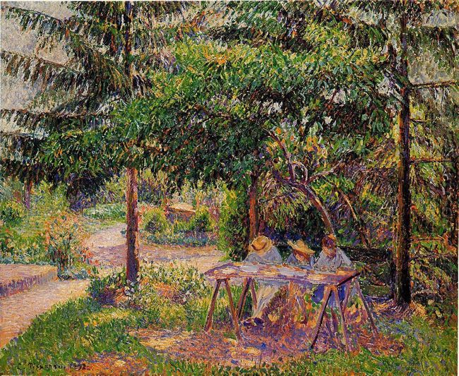 children in a garden at eragny 1897