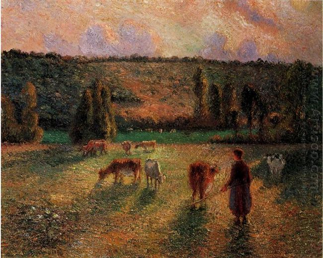 cowherd at eragny 1884