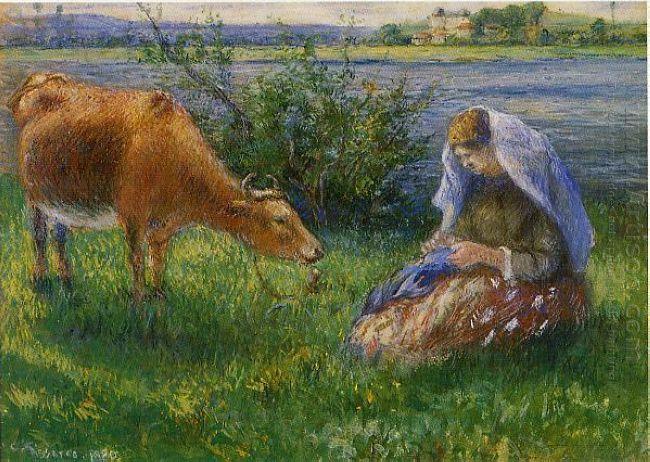 cowherd pontoise 1880