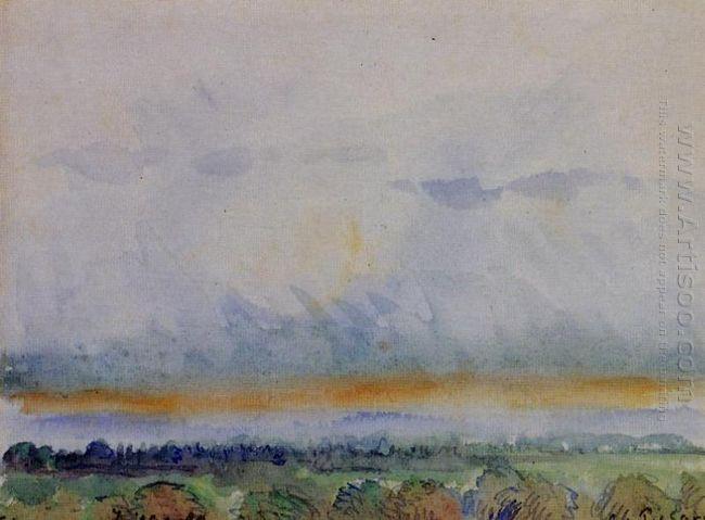 eragny sunset 1890