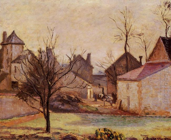 farmyard in pontoise 1874