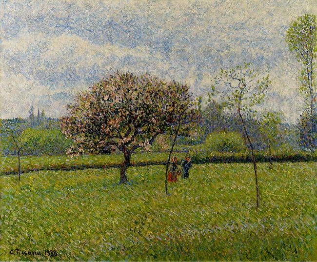 flowering apple trees at eragny 1888