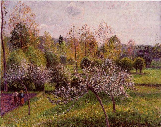 flowering apple trees eragny 1895