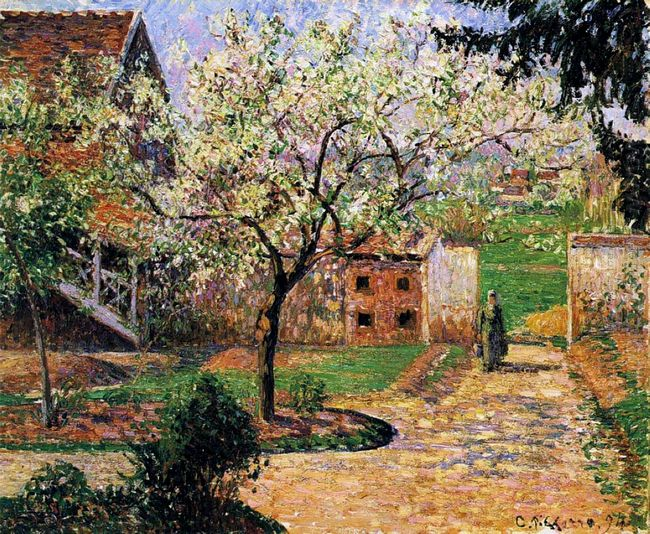 flowering plum tree eragny 1894