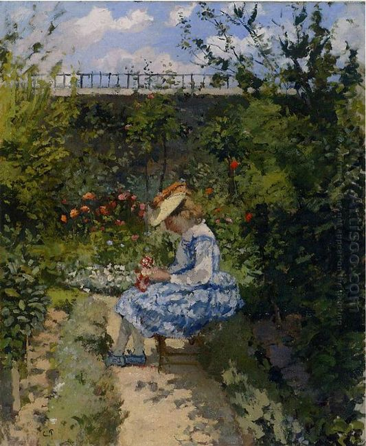 jeanne in the garden pontoise