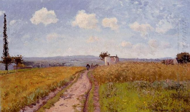 june morning view over the hills over pontoise 1873