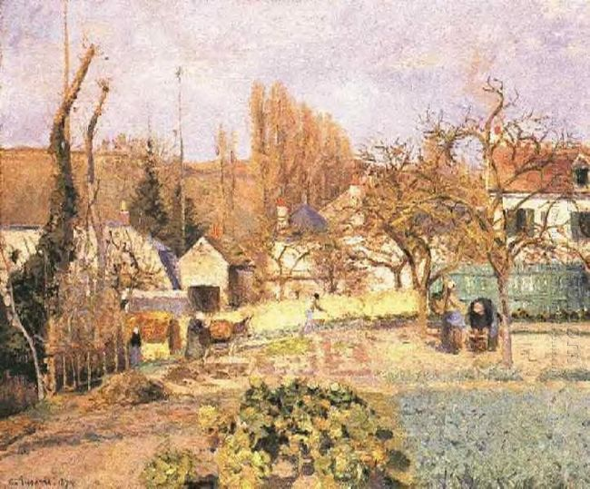 kitchen garden at the hermitage pontoise 1874