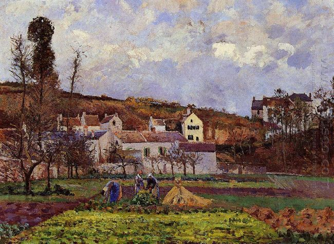 kitchen gardens at l hermitage pontoise 1873
