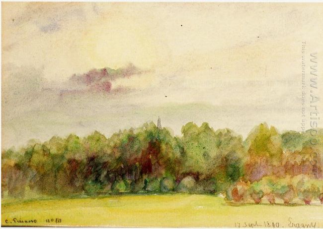 landscape at eragny 1890