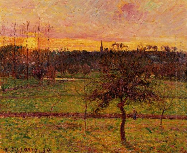 landscape at eragny 1894