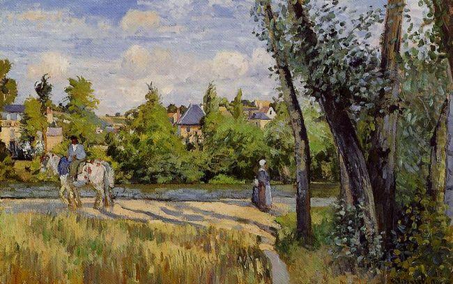 landscape bright sunlight pontoise 1874