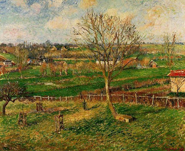 landscape fields eragny 1885
