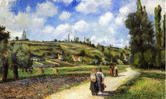 landscape near pontoise the auvers road 1881