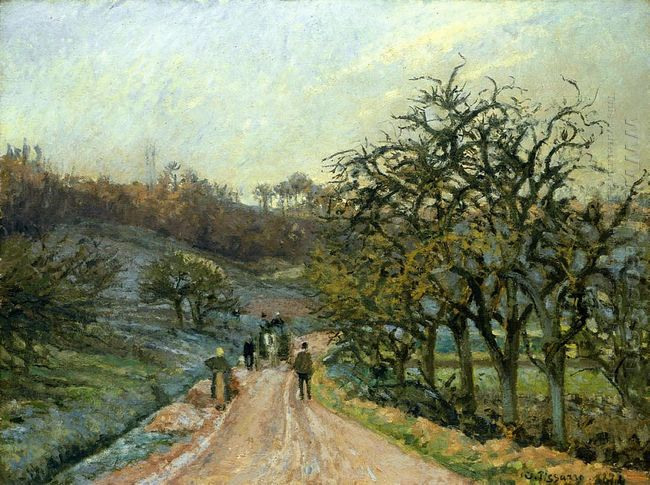 lane of apple trees near osny pontoise 1874