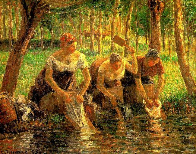 laundring women eragny sur eptes 1895